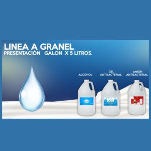 Gel Antibacterial al 70% x 5 litros