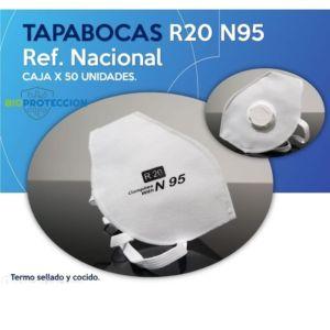 Tapabocas Termosellado N95 con Válvula