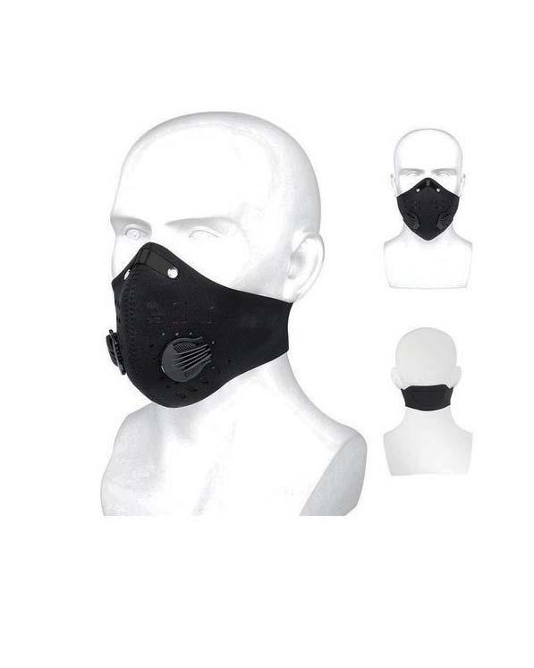Mascarillas Deportivas Tapabocas antipolucion con filtros de aire y 2 valvulas