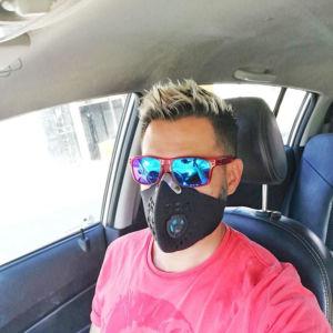Tapabocas Máscara Antipolución en Neopreno / Carbón Activado