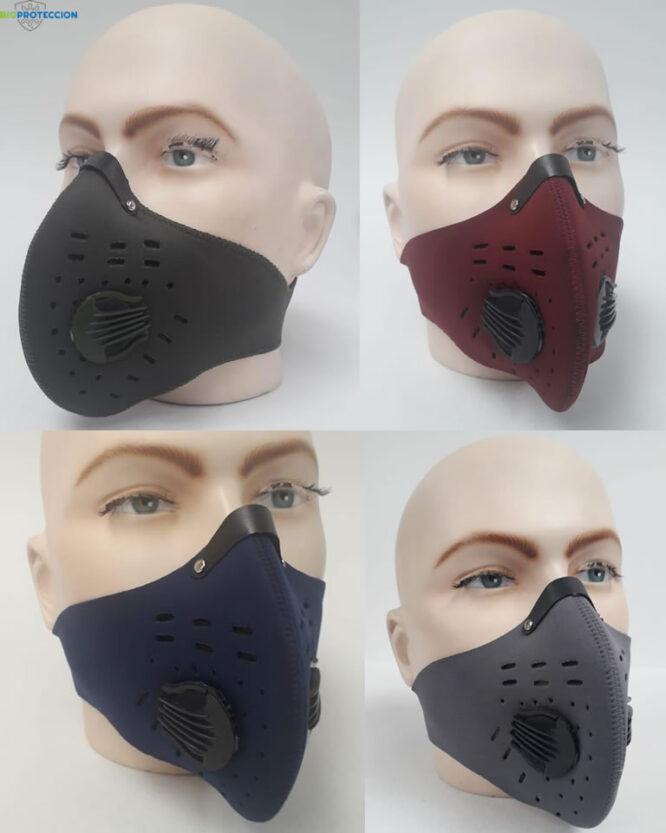 mascaras neopreno carbon activo colores