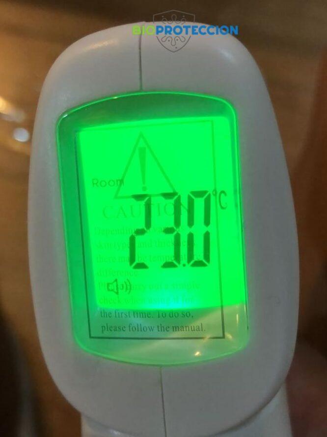 Termometro digital infrarrojo pantalla