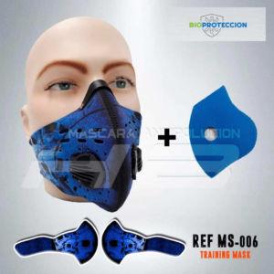 Kit x 3 Tapabocas Máscara Antipolución Sport en Neopreno/Carbón Activado