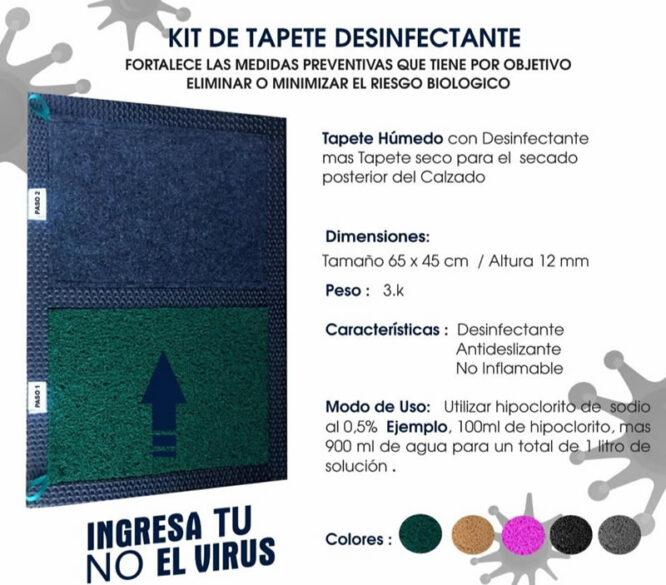 kit tapete desinfectante