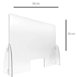 Barrera Separador Antifluidos En Acrílico De 3.0mm 50 X 55