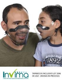 tapabocas transparentes inclusivo infantil
