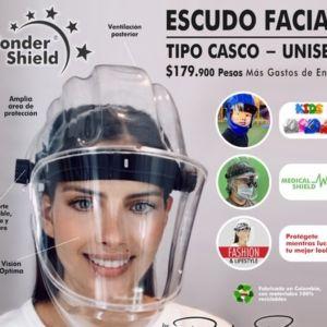 Escudo Facial Integral Tipo Casco Wonder Shield