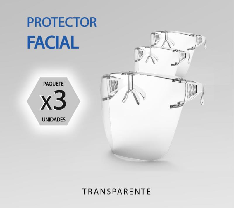 protector facial lente 3unidades