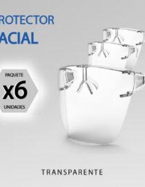 protector facial lente 6unidades